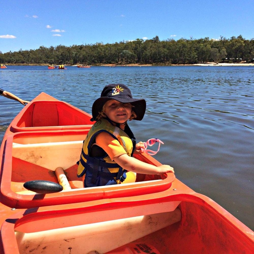 Canoe hire Lake Leschenaultia