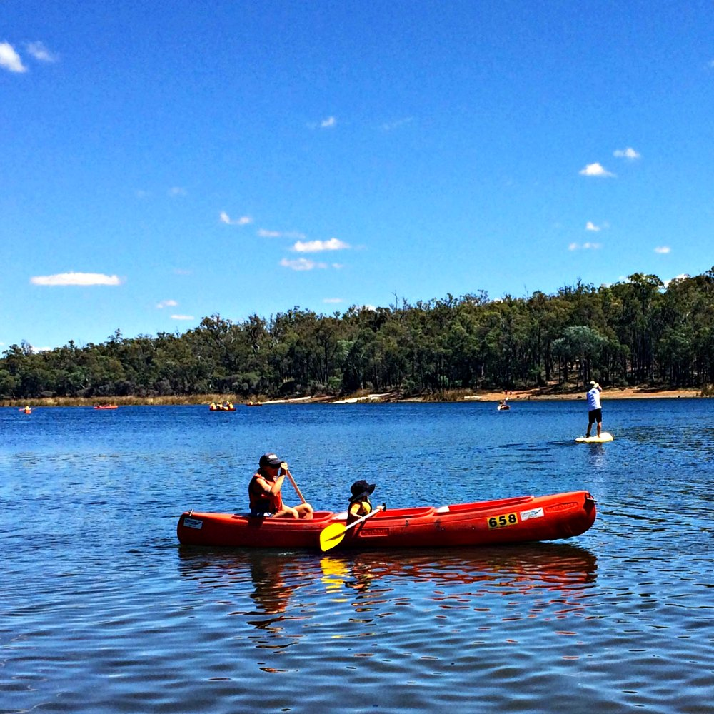 Canoe hire on Lake Leschenaultia