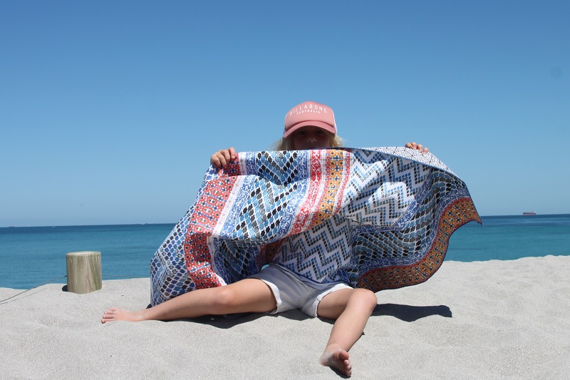 Sand proof beach towel